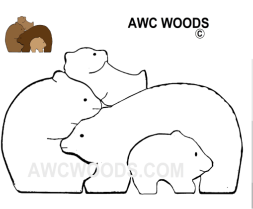 Bears Scroll Saw Puzzle Patterns