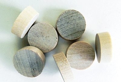Buy Birch Flat head Wood Plugs with Tapered Sides | Bear Woods Supply