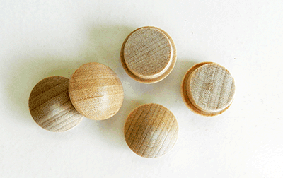 Buy Birch Screw Hole Button Wood Plugs with Tapered Sides| Bear Woods Supply