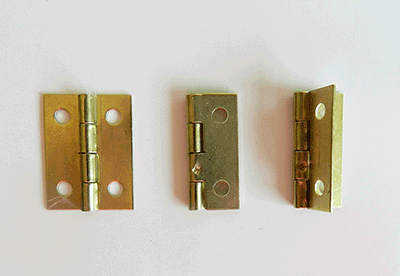 Buy Box Brass Plated Hinges | Bear Woods Supply