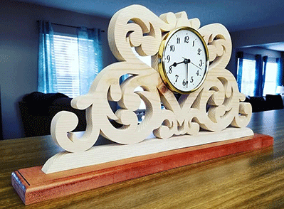 Scroll Saw Clock with Clock insert