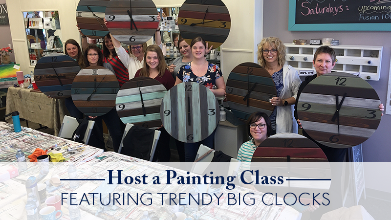 how to host a clock making and painting class