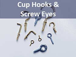 cup hooks and screw eyes bulk sale | Bear Woods Supply