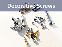 Buy screws for picture hanging, in brass, black and zinc | Bear Woods Supply