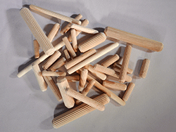 Wooden Dowel Pins Fluted Link Image | Bear Woods Supply