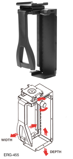 Compx Ergonomx Cpu Holder Non Swivel Non Storable