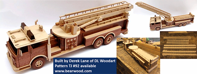 Wooden Toy Log Skidder : Woodworking patterns for trucks and semi tractors