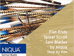 flat ends spiral Scroll saw blades by Niqua Flying Dutchman