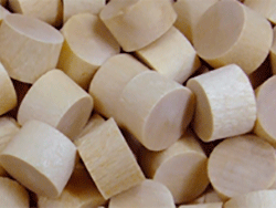 flat head beech wood bungs, wood plugs | Bear Woods Supply