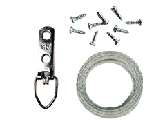 Wire Hanging Kit with Mounting Screws for 5 Pictures (up to 25 LBS)