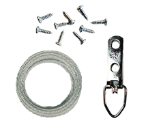 Wire Hanging Kit with Mounting Screws for 5 Pictures (up to 43 LBS)