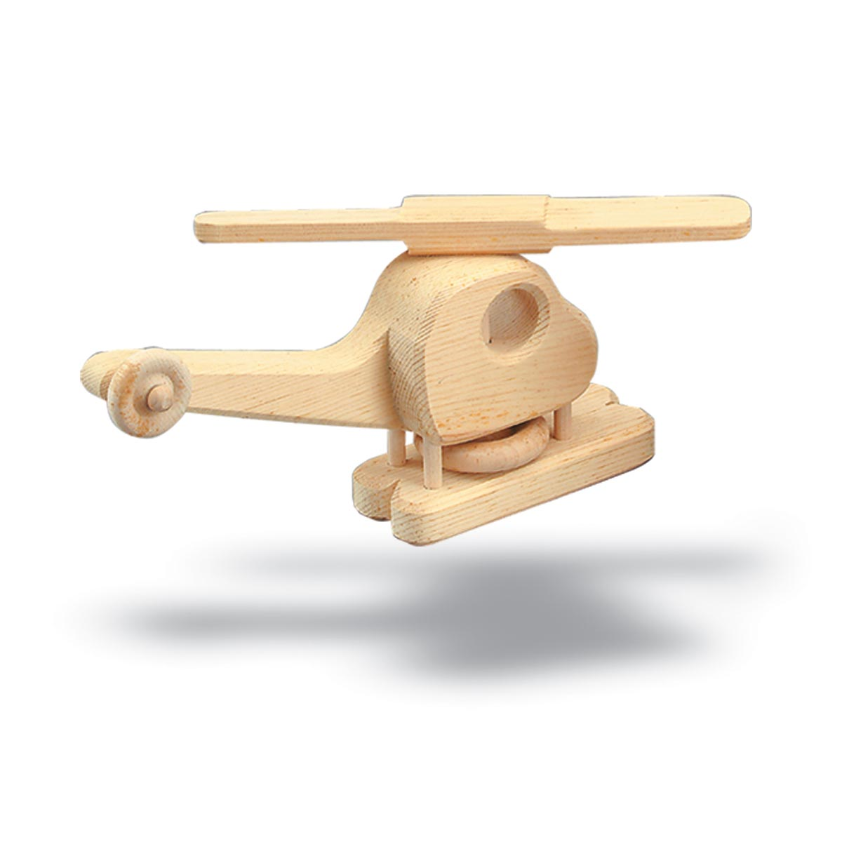 helicopter and bi-plane wooden model pattern