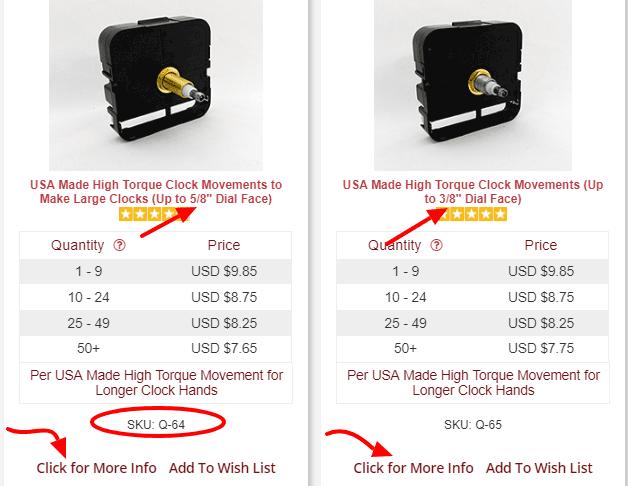 choosing the right clock motor