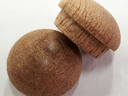 buy wholesale mahogany mushroom button plugs | Bear Woods