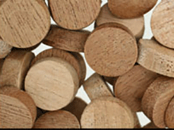 mahogany side grain flat top wood plugs
