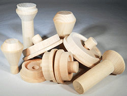 Wooden Train Wheels And Smokestacks Parts For Wood Model Trains