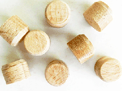 buy sidegrain wood floor plugs in oak and maple | Bear Woods Supply