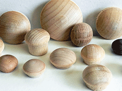 Buy mushroom button plugs in Maple, Birch, Oak | Bear Woods Supply