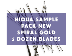 Niqua Scroll Saw Blades Sample Pack New Spiral Gold Blades - 3 Dozen Blades