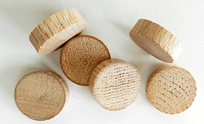 Buy Oak Flat head Wood Plugs with Tapered Sides | Bear Woods Supply