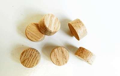 Buy Oak Side Grain Flat head Wood Plugs | Bear Woods Supply