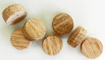 Oak SideGrain Floor Plugs | Bear Woods Supply