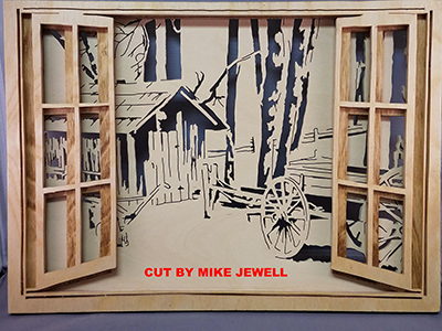 Layered open windows scroll saw patterns examples