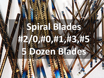 pegas scroll saw sample pack spiral blades half pack