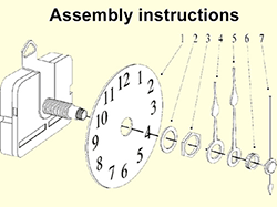 Clock hands mounting instructions for quartz movements | Bear Woods Supply