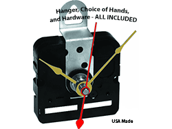 Buy quartz clock movements with hands | Bear Woods Supply