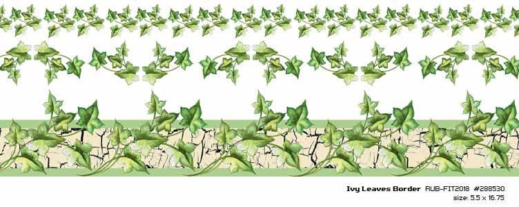ivy leaves rubon border 55quotx1675quot