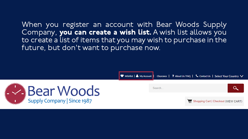 register for a bear woods account