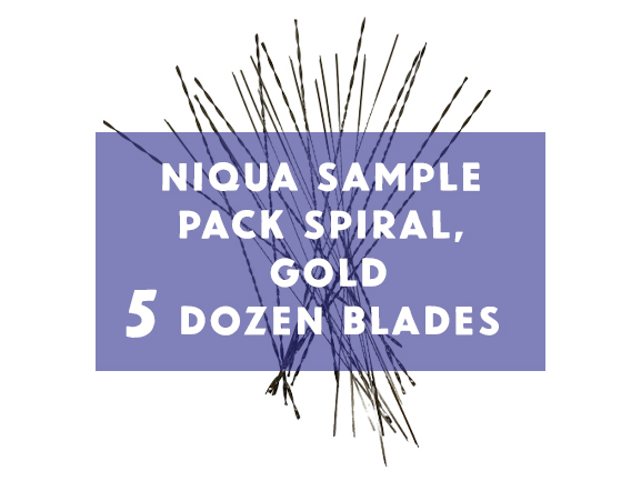 Niqua Scroll Sample Pack Spiral Gold Blades - 5 Dozen Blades