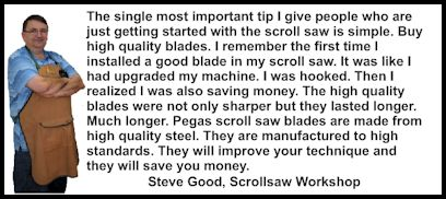 Scroll Saw Blades Testimonial Steve Good Scrollsaw Workshop