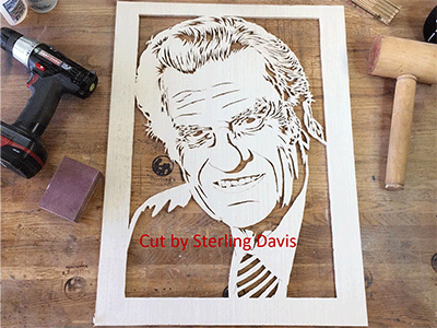 scroll saw patterns portraits billy graham