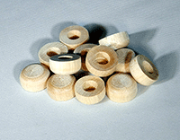 Wooden Hubcaps for models and toys