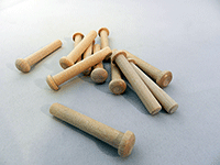 Wooden axle pegs for models and toys
