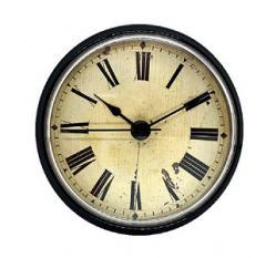 3-1/2 Antique Ivory Roman Clock Inserts with a Black Bezel