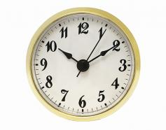 White Arabic Clock Insert 2-7/8 inch