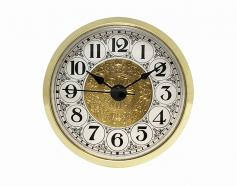Fancy White Arabic Clock Insert Brass Bezel 2-7/8 inch