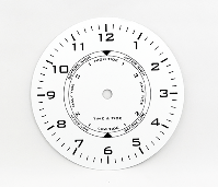 Metal Time and Tide Clock Dial 6"