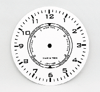 """White Time and Tide Clock Dial 6"""" 