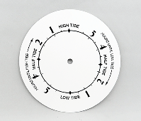 White Tide Clock Dial 6"