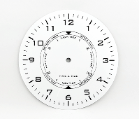 """White Time and Tide Clock Dial 7-7/8"""" 