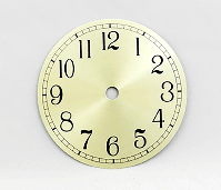 Gold Arabic Clock Dial 4-1/2"