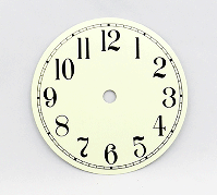 Ivory Arabic Clock Dial 4-1/2"