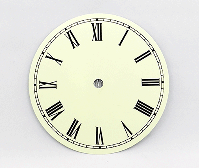 Ivory Roman Clock Dial 6"