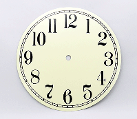 Ivory Arabic Clock Dial 7-7/8"