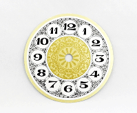 Fancy Arabic Clock Dial 4-1/2"