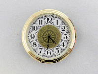 "Fancy White Arabic Premium 2"" Clock Insert | Bear Woods Supply"